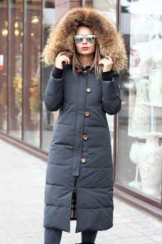 Длинная зимняя куртка-пуховик burberry цвета графит