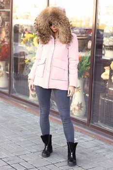 Короткая куртка розового цвета