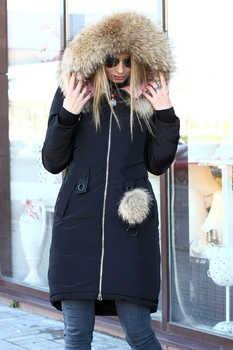 Куртка с меховым помпоном