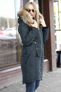 Модная куртка с енотом