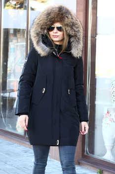 Укорочнная куртка vo-tarun на биопухе черная